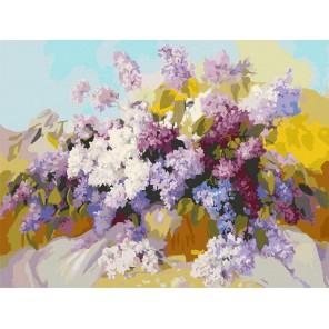 Сирень в вазе Раскраска картина по номерам акриловыми красками на холсте Белоснежка