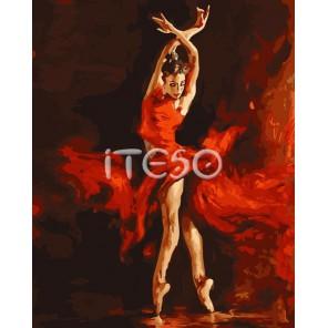 Страстный танец Раскраска картина по номерам акриловыми красками на холсте Iteso | Купить картину по номерам