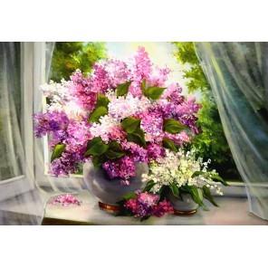 Сирень на окне Алмазная вышивка мозаика Гранни