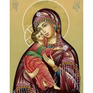 Владимирская икона Божией Матери Алмазная вышивка мозаика Гранни