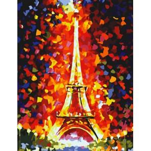 Эйфелева башня Алмазная частичная вышивка мозаика на подрамнике Color Kit