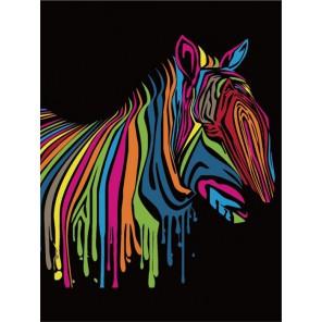 Зебра Раскраска по номерам акриловыми красками на холсте Menglei