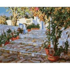 Крымский двор Раскраска по номерам акриловыми красками на холсте Menglei