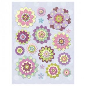 Цветы причудливые Стикеры для скрапбукинга, кардмейкинга K&Company