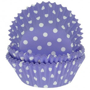 Горошек фиолетовый Набор бумажных форм для кексов Dolce Arti
