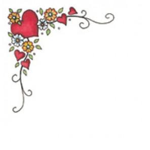 Сердца и цветы Штамп угловой для скрапбукинга, кардмейкинга Plaid