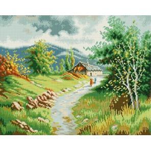 Жаркий полдень в горах Алмазная вышивка (мозаика) Molly