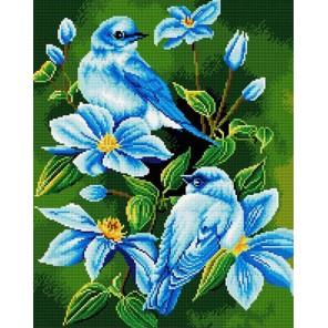 В голубых цветах Алмазная вышивка (мозаика) Molly