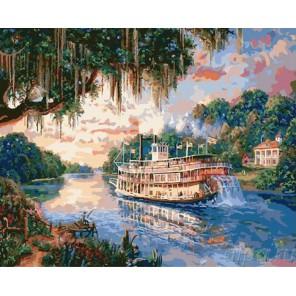 Речная прогулка Раскраска картина по номерам акриловыми красками на холсте Molly