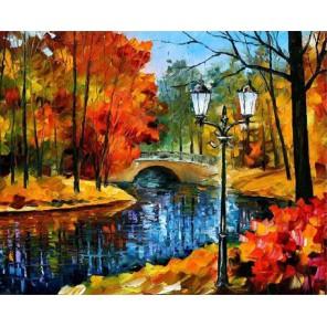 Парк (художник Леонид Афремов) Раскраска картина по номерам акриловыми красками на холсте Molly
