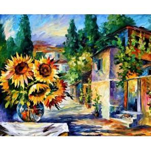 Полдень в Греции (художник Леонид Афремов) Раскраска картина по номерам акриловыми красками на холсте Molly