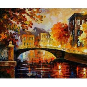 Река воспоминаний (художник Леонид Афремов) Раскраска картина по номерам акриловыми красками на холсте Molly