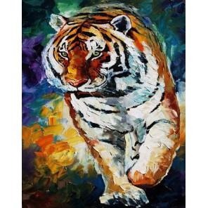 Тигр Раскраска картина по номерам на холсте Molly