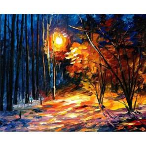 Тени на снегу (художник Леонид Афремов) Раскраска картина по номерам акриловыми красками на холсте Molly