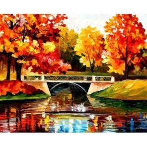 Сияние осени (художник Леонид Афремов) Раскраска картина по номерам акриловыми красками на холсте Molly
