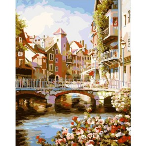 Два берега Раскраска картина по номерам акриловыми красками на холсте Molly