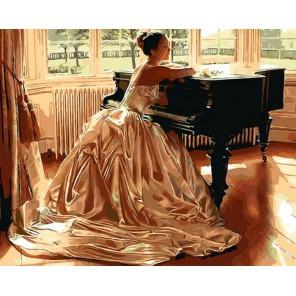 За роялем Раскраска ( картина ) по номерам акриловыми красками на холсте Iteso