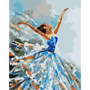 Балерина Раскраска картина по номерам акриловыми красками на холсте Русская живопись