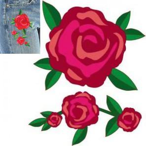 Розы Термонаклейка - вышивка Plaid