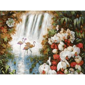 Райский сад Раскраска картина по номерам на холсте Белоснежка