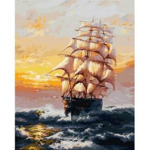 Под парусами Раскраска картина по номерам акриловыми красками на холсте Белоснежка