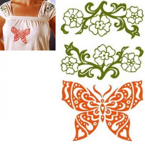 Бабочка Термонаклейка Plaid