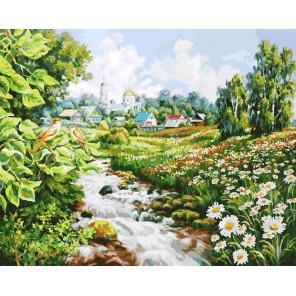 Там где поют соловьи Раскраска картина по номерам акриловыми красками на холсте Белоснежка