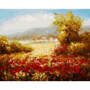Летнее поле Раскраска картина по номерам акриловыми красками на холсте Белоснежка