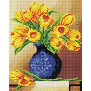 Весенние тюльпаны Алмазная вышивка мозаика на подрамнике Белоснежка