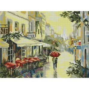 Прогулка по улицам Парижа Алмазная вышивка мозаика на подрамнике Белоснежка