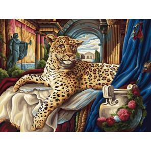 Римский леопард Раскраска картина по номерам акриловыми красками на холсте Белоснежка