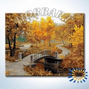 В осеннем парке Раскраска картина по номерам акриловыми красками на холсте Hobbart