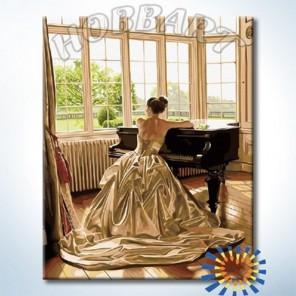 За роялем Раскраска картина по номерам акриловыми красками на холсте Hobbart