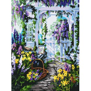 Прекрасный сад Раскраска картина по номерам акриловыми красками на холсте Белоснежка