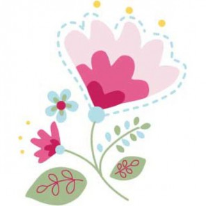 Цветок Термонаклейка Plaid