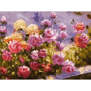 Букет роз Раскраска картина по номерам акриловыми красками на холсте Белоснежка