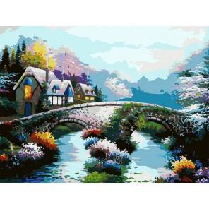 Старинный мост Раскраска картина по номерам акриловыми красками на холсте Белоснежка