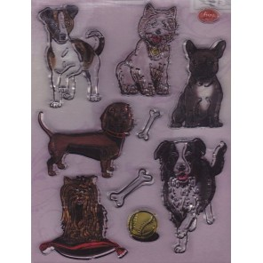 Собаки Набор прозрачных штампов для скрапбукинга, кардмейкинга Viva Decor