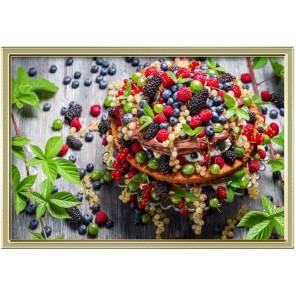 Ягодный пирог Алмазная частичная вышивка (мозаика) Color Kit