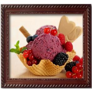 Мороженое Алмазная частичная вышивка (мозаика) Color Kit