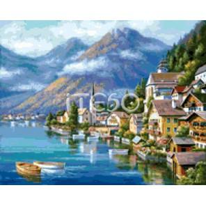 Городок на побережье Алмазная вышивка мозаика Iteso