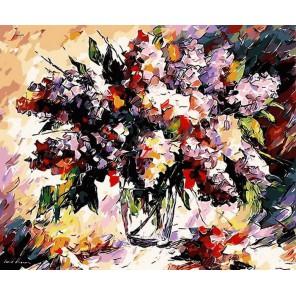 Сирень (художник Леонид Афремов) Раскраска картина по номерам акриловыми красками на холсте Menglei