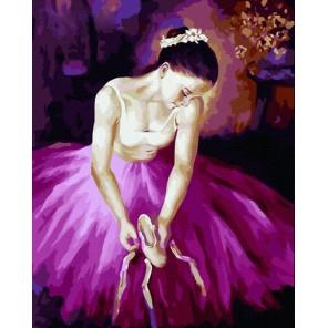Балерина Раскраска картина по номерам акриловыми красками на холсте Menglei
