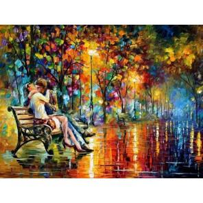 Осенний поцелуй Раскраска картина по номерам акриловыми красками на холсте Molly