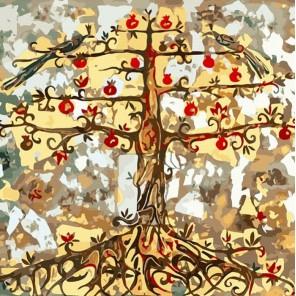 Гранатовое дерево Раскраска картина по номерам акриловыми красками Color Kit
