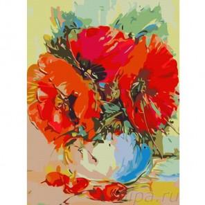 Маковый букет Раскраска картина по номерам акриловыми красками Color Kit