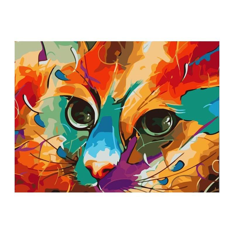 Рисование по номерам кот