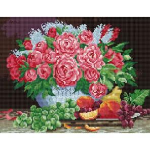 Розы Алмазная вышивка мозаика Цветной