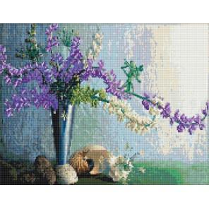 Необычные цветы Алмазная вышивка мозаика с рамкой Цветной