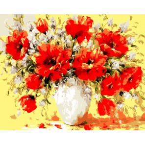 Букет маков А. Джанильятти Раскраска по номерам акриловыми красками на холсте Menglei